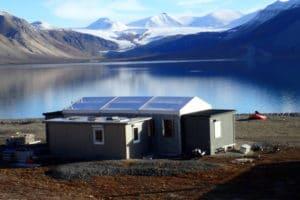 tent hall Spitsbergen