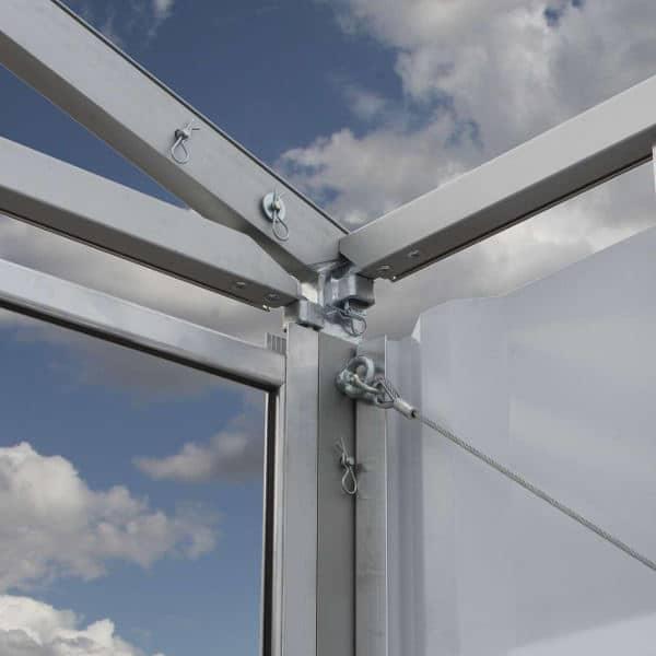 CHAPITEAUX D'ENTREPOSAGE Construction solide d'aluminium