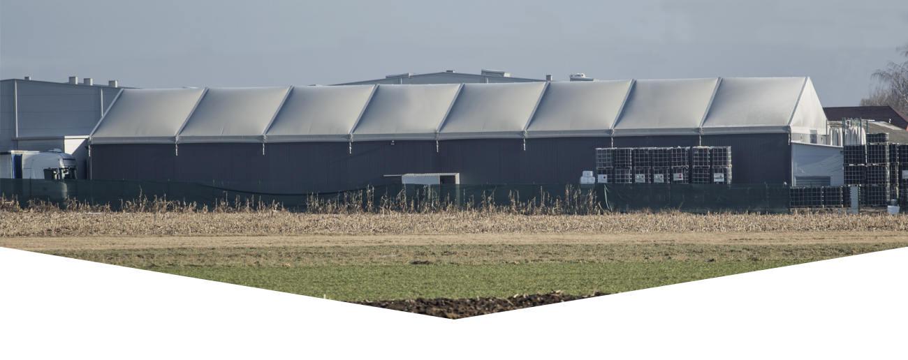 entrepôt de stockage - tente toit gonflable